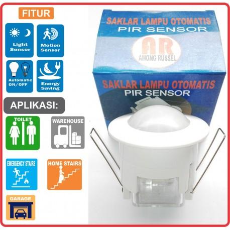 Saklar Otomatis Lampu-PIR MOTION-AR003