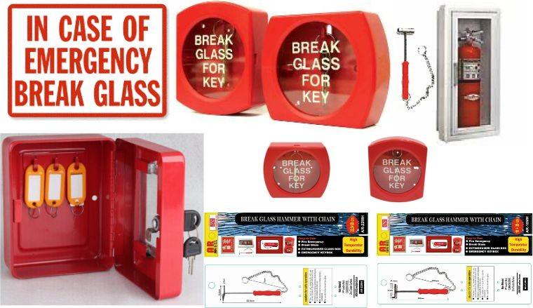 Emergency Break Glass-Hammer APAR